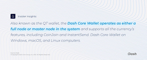 A wavy background with quote about Dash cryptocurrency.